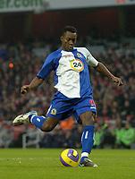 Photo: Olly Greenwood.<br />Arsenal v Blackburn Rovers. The Barclays Premiership. 23/12/2006. Blackburn's Shabian Nonda scores from the penalty spot