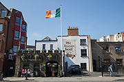 The Brazen Head in Merchants Quay on 07th April 2017 in Dublin, Republic of Ireland. The Brazen Head pub dates back to 1198. Dublin is the largest city and capital of the Republic of Ireland.