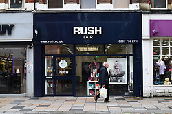 A view of a Rush Hair branch in London.