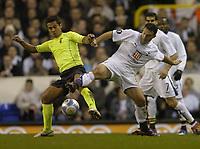 Photo: Olly Greenwood.<br />Tottenham Hotspur v FC Braga. UEFA Cup. 14/03/2007. Spurs Steed Malbranque and Braga's Luis Filipe