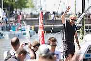 IMOCA Ocean Masters. New York - Barcelona Race start. Pictures Hugo Boss skippered by Ryan Breymaier (USA)<br />  Credit: Mark Lloyd/Lloyd Images