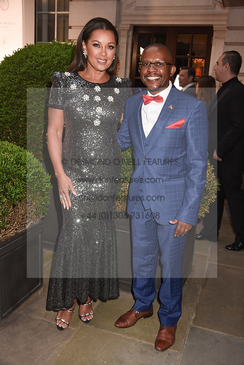 Vanessa Williams and Sello Hatang at the Nelson Mandela Foundation Gala Dinner, Rosewood, London England. 24 April 2018.