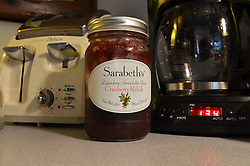 Sarabeth's Cranberry Relish. Legendary Spreadable Fruit. SBK Preserves, Bronx, NY. Refirigerate After Opening. This is a Nikon NEF file. Color correction, etc, is up to you.