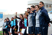 Fifa Womans World Cup Canada 2015 - Preview //<br /> Cyprus Cup 2015 Tournament ( Gsp Stadium Nicosia - Cyprus ) - <br /> Netherlands vs England 1-1   // Mark Sampson - Coach of England (1-Right) and his Assistent Staff