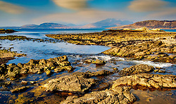 The mouth of the Old River at Ord, Isle of Skye as it enters Loch Eishort<br /> <br /> (c) Andrew Wilson | Edinburgh Elite media