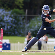 Caroline Atkins batting during the match between England and New Zealand in the Super 6 stage of the ICC Women's World Cup Cricket match at Bankstown Oval, Sydney, Australia on March 14 2009, England made 201 for 5 in their 50 overs.  Photo Tim Clayton