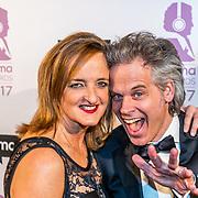 NLD/Hilversum//20170306 - uitreiking Buma Awards 2017, Norman Bonink en partner