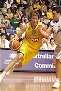 Joe Ingles (Australia) in action during the Ramsay Shield, Australia Post Boomers v New Zealand, Game 2, 2008.  Played at the State Netball & Hockey Centre. Australian Post Boomers defeated New Zealand. .Photo: Joel Strickland / SMP Images.Use information: This image is intended for Editorial use only (e.g. news or commentary, print or electronic). Any commercial or promotional use requires additional clearance.