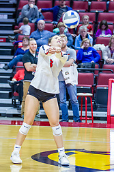 BLOOMINGTON, IL - November 22: Kaity Weimerskirch during a college Women's volleyball match between the ISU Redbirds and the Sycamores of Indiana State on November 22 2019 at Illinois State University in Normal, IL. (Photo by Alan Look)