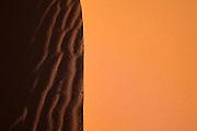 Sand details at Coral Pink Sand Dunes State Park, Utah.