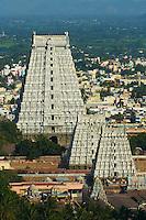 Inde, etat du Tamil Nadu, Tiruvannamalai, temple de Arunachaleswar // India, Tamil Nadu, Tiruvannamalai, Arunachaleswar temple