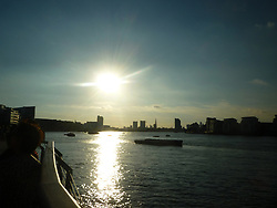 Sunset over River Thames from Greenwich, London UK