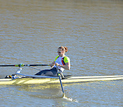 Boston, Great Britain. Women's Single Scull GBR W1X . Helen GLOVER,  compete's in the 2013 GBRowing second assessment, Boston Rowing Club, River Witham, Lincolnshire.     Saturday   09/02/2013   [Mandatory Credit. Peter Spurrier/Intersport Images]
