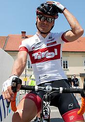 Jure Golcer (SLO) of Tirol Cycling Team before 4th Stage Brezice - Novo Mesto (155,8 km) at 20th Tour de Slovenie 2013, on June 16, 2013, in Brezice, Slovenia. (Photo by Urban Urbanc / Sportida.com)