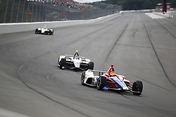 August 19, 2018 - Long Pond, Pennsylvania, United Stated - MATHEUS LEIST (4) of Brazil battles for position during the ABC Supply 500 at Pocono Raceway in Long Pond, Pennsylvania. (Credit Image: © Justin R. Noe Asp Inc/ASP via ZUMA Wire)