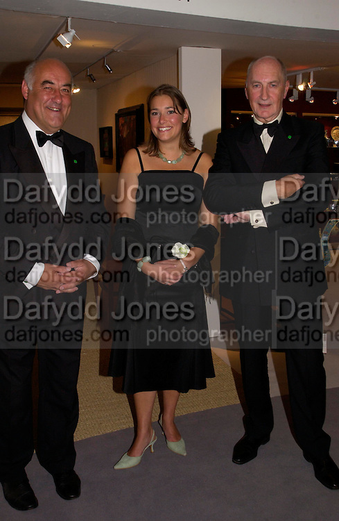Sir Peter Osborne, Emily Fagan and Neil Fagan.  . The Grosvenor House Art and Antiques Fair charity Gala evening in aid of the NSPCC. 16 June2005. ONE TIME USE ONLY - DO NOT ARCHIVE  © Copyright Photograph by Dafydd Jones 66 Stockwell Park Rd. London SW9 0DA Tel 020 7733 0108 www.dafjones.com