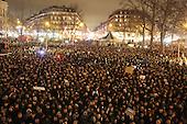 Charlie Hebdo Protest, Republique Paris France 07/01/2015