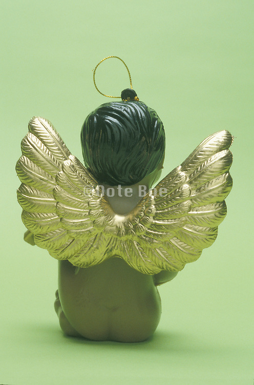 back of angel ornament