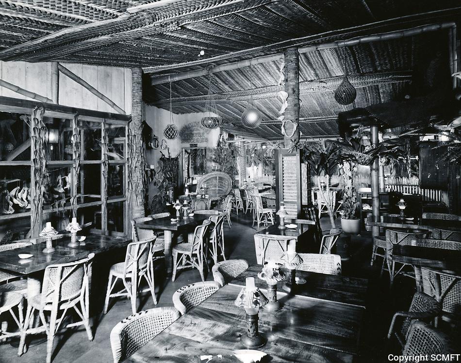 1957 Interior of Don The Beachcomber Restaurant at 1722 N. McCadden Pl.