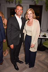 Lady Penny Mountbatten and Andrew Stembridge at a party to celebrate the launch of Hans' Bar & Grill, 11 Cadogan Gardens, Chelsea, London, England. 07 June 2018.