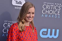 Yvonne Strahovski at The 23rd Annual Critics' Choice Awards held at the Barker Hangar on January 11, 2018 in Santa Monica, CA, USA (Photo by Sthanlee B. Mirador/Sipa USA)