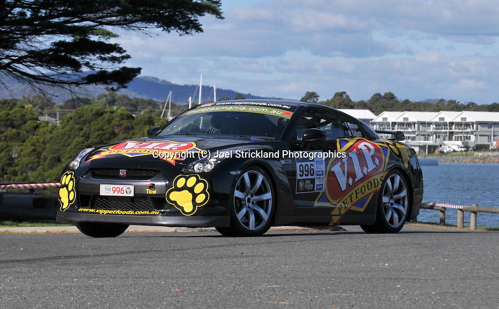 Tony Quinn & Naomi Tillett .2008 Nissan GTR.Prologue.George Town.Targa Tasmania 2009.28th of April 2009.(C) Joel Strickland Photographics.