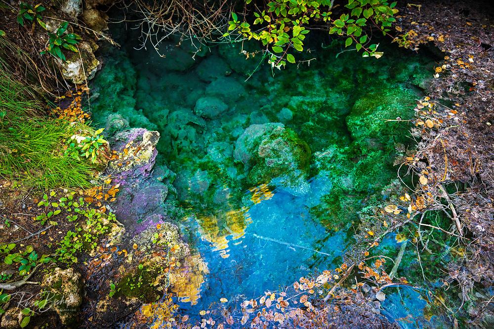 Original spring at Cave and Basin National Historic Site, Banff National Park, Alberta, Canada