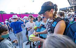 PORTOROZ, SLOVENIA - SEPTEMBER 18:   Kaja Juvan of Slovenia after the semifinal match of the WTA 250 Zavarovalnica Sava Portoroz at SRC Marina, on September 18, 2021 in Portoroz / Portorose, Slovenia. Photo by Vid Ponikvar / Sportida