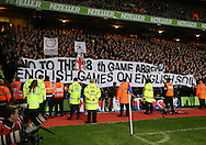 Crystal Palace's fans protest about a potential Premier League game being played abroad <br /> <br /> - Barclays Premier League - Crystal Palace vs Sunderland- Selhurst Park - London - England - 3rd November 2014  - Picture David Klein/Sportimage