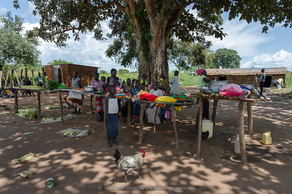 This small village market at Ifoho Boma in Imurok Payam in Eastern Equatoria, South Sudan, seen on 9 August 2014, is the only source of income for some families in the community. The paucity of goods on sale underscores both the lack of produce available, and the weak purchasing power of village residents.