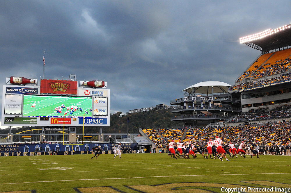 Oct 25, 2008; Pittsburgh, PA, USA; Stormy skies passed by Heinz Field during Rutgers' 54-34 victory over Pittsburgh.