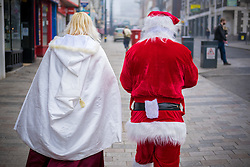 @Licensed to London News Pictures 17/12/2016. Maidstone, Kent. Characters representing cosplay characters attend The Grinning Demon Christmas convention in Maidstone today. Photo credit: Manu Palomeque/LNP