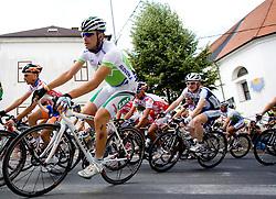 Jure Golcer   (SLO) of Slovenian National Team after start in Sentjernej of the 4th stage of Tour de Slovenie 2009 from Sentjernej to Novo mesto, 153 km, on June 21 2009, Slovenia. (Photo by Vid Ponikvar / Sportida)