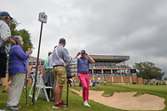 Trey Mullinax (USA) departs 18 after shooting a course record 62 during Round 3 of the Valero Texas Open, AT&T Oaks Course, TPC San Antonio, San Antonio, Texas, USA. 4/21/2018.<br /> Picture: Golffile   Ken Murray<br /> <br /> <br /> All photo usage must carry mandatory copyright credit (© Golffile   Ken Murray)