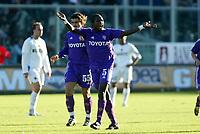 Firenze 07-11-2004<br /> Campionato  Serie A Tim 2004-2005<br /> Fiorentina Inter<br /> nella  foto esultanza Obodo Chris<br /> Foto Snapshot / Graffiti