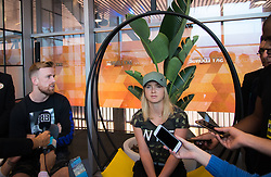 May 3, 2019 - Madrid, MADRID, SPAIN - Elina Svitolina of the Ukraine & Andy Bettles during All Access Hour at the 2019 Mutua Madrid Open WTA Premier Mandatory tennis tournament (Credit Image: © AFP7 via ZUMA Wire)