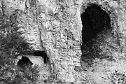 Black and White Photograph of Ancient Pueblo 3 Mile House in Gila National Forest, NM