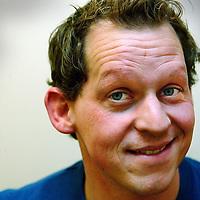 Nederland. Amsterdam.7 januari 2003..klapstoel.Joep Onderlinden, acteur.