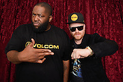 Portrait of Killer Mike and El-P of the rap group Run The Jewels taken on-location at SiriusXM Studios, NYC on March 1, 2017. © Matthew Eisman. All Rights Reserved