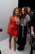 Jade Jagger and Elizabeth Jagger. The Moet & Chandon Fashion Tribute 2005 to Matthew Williamson,  Old Billingsgate market, London. 16th February 2005. ONE TIME USE ONLY - DO NOT ARCHIVE  © Copyright Photograph by Dafydd Jones 66 Stockwell Park Rd. London SW9 0DA Tel 020 7733 0108 www.dafjones.com