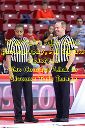 01 January 2017: LaSha Hopson and Brad Maxey during an NCAA Missouri Valley Conference Women's Basketball game between Illinois State University Redbirds the Braves of Bradley at Redbird Arena in Normal Illinois.