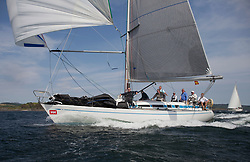 Sailing - SCOTLAND  - 27th May 2018<br /> <br /> 3rd days racing the Scottish Series 2018, organised by the  Clyde Cruising Club, with racing on Loch Fyne from 25th-28th May 2018, GBR9740R, Sloop John T, Iain & Graham Thomson, CCC, Swan 40<br /> <br /> Credit : Marc Turner<br /> <br /> Event is supported by Helly Hansen, Luddon, Silvers Marine, Tunnocks, Hempel and Argyll & Bute Council along with Bowmore, The Botanist and The Botanist