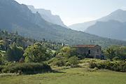 Landscape near Moustiers-Sainte-Marie, Verdon, Provence, France