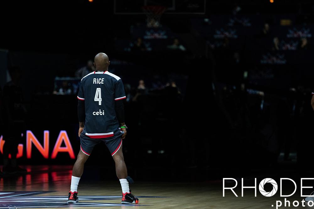 Terese Rice (USA/Brose Bamberg) pre game <br /> <br /> <br /> Basketball Champions League Final Four Antwerp 2019<br /> Semi-Final: Virtus Segafredo Bologna (ITA) vs. Brose Bamberg (GER) : 67-50 <br /> <br /> ©RhodePhoto