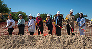 Groundbreaking ceremony at Wharton PK-8 Dual Language Academy, May 5, 2017.