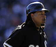CHICAGO - SEPTEMBER 12:  Manny Ramirez #99 of the Chicago White Sox looks on against the Kansas City Royals on September 12, 2010 at U.S. Cellular Field in Chicago, Illinois.  The White Sox defeated the Royals 12-6.  (Photo by Ron Vesely)
