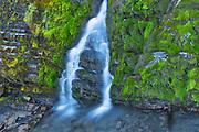 Waterfall on trail along Upper Kananaskis Lake<br />Kananaskis Coutnry<br />Alberta<br />Canada