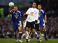 Photo: Rich Eaton.<br /> <br /> Cardiff City v Tottenham Hotspur. The FA Cup. 07/01/2007. Stephen McPhail left of Cardiff and Dimitar Berbatov right of Spurs