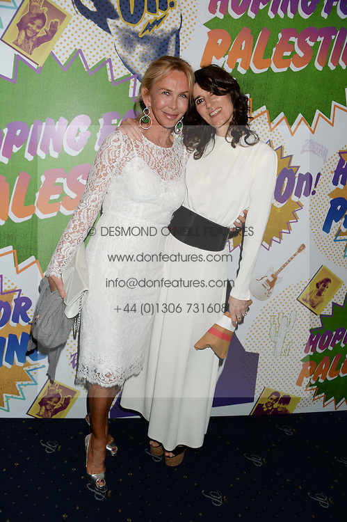 Left to right, TRUDIE STYLER and BELLA FREUD at the Hoping Foundation's 'Rock On' Benefit Evening for Palestinian refuge children held at the Cafe de Paris, London on 20th June 2013.
