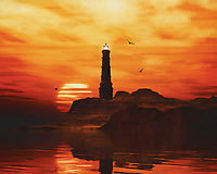 A lighthouse is meant to be a beacon for navigation. You can find a lighthouse along the coast anywhere in the world. In modern times, a lighthouse did lose some of its function due to more advanced technology; However, a lighthouse still retains its romantic function for many.<br /> This painting easily brings the atmosphere of the sea to your home. This coastal scene can be printed in different sizes and on different materials. Both on canvas, wood, metal or framed so it certainly fits into your interior. –<br /> -<br /> BUY THIS PRINT AT<br /> <br /> FINE ART AMERICA / PIXELS<br /> ENGLISH<br /> https://janke.pixels.com/featured/3-lighthouse-with-a-sunset-jan-keteleer.html<br /> <br /> <br /> WADM / OH MY PRINTS<br /> DUTCH / FRENCH / GERMAN<br /> https://www.werkaandemuur.nl/nl/shopwerk/Vuurtoren-met-een-zonsondergang-en-wilde-gele-Stratus-wolken/782480/132?mediumId=15&size=70x55<br /> –<br /> -
